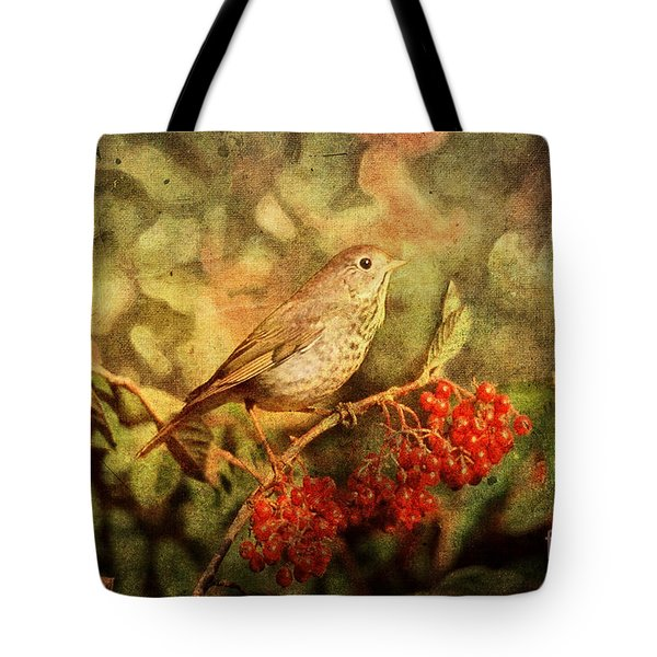 A Little Bird With Plumage Brown Tote Bag