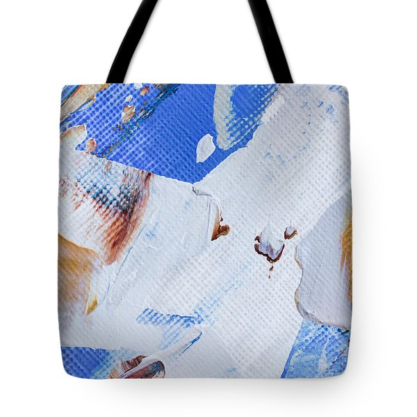 Tote Bag featuring the painting A Little Blue by Heidi Smith