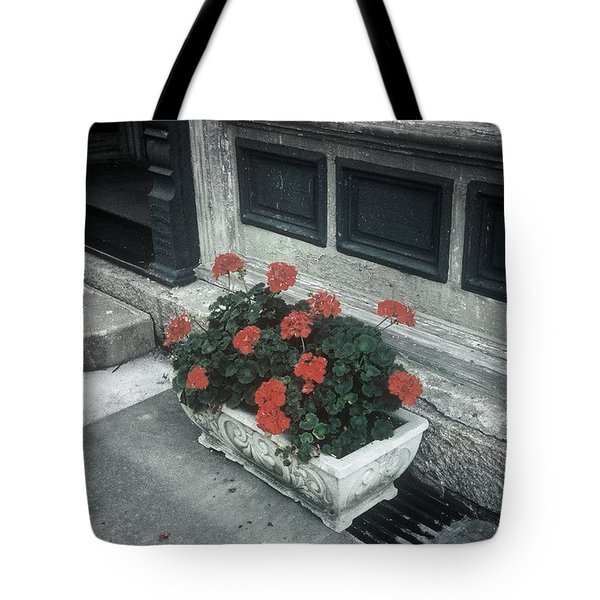 Tote Bag featuring the photograph A Little Color In A Drab World by Rodney Lee Williams