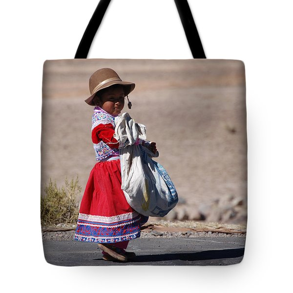A Little Girl In The  High Plain Tote Bag