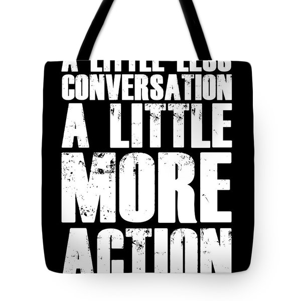 A Little More Action Poster Black Tote Bag