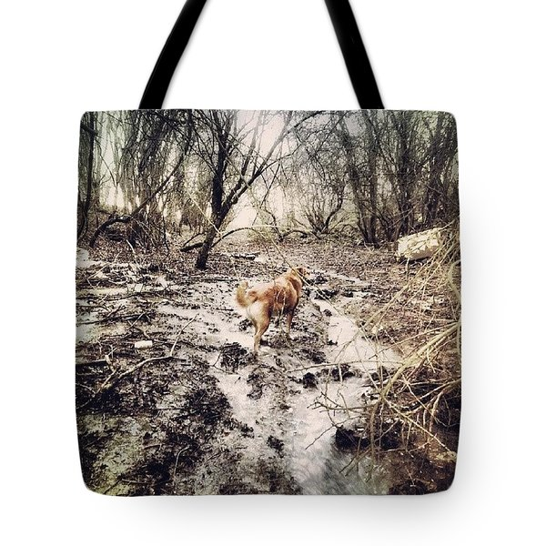 A Little Muddy Today! Tote Bag
