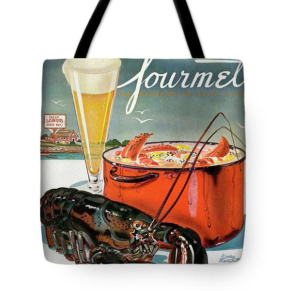 A Lobster And A Lobster Pot With Beer Tote Bag