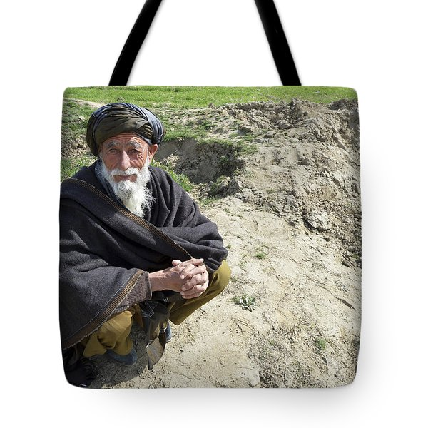 A Local Afghan Man Near A Village Tote Bag by Stocktrek Images