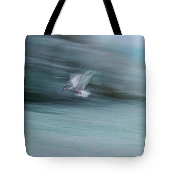 A Long Exposure Of An Arctic Tern Tote Bag