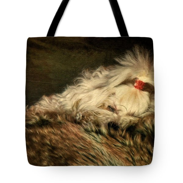 A Long Winter's Nap Tote Bag by Lois Bryan