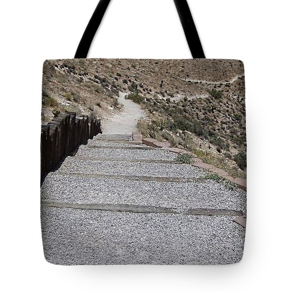 A Look Down Tote Bag