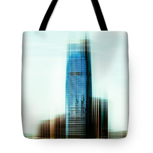 A Look To New Jersey II - Steel Tote Bag