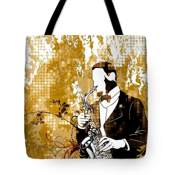 A Love For Sax Tote Bag by Stanley Mathis