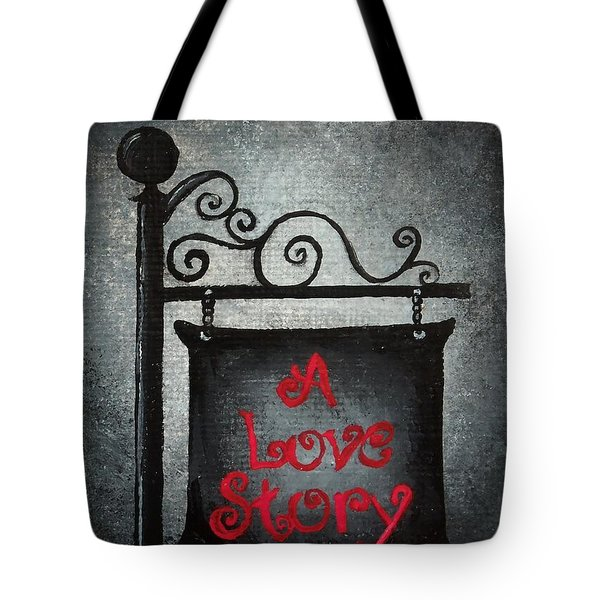 A Love Story No 10 Tote Bag by Oddball Art Co by Lizzy Love