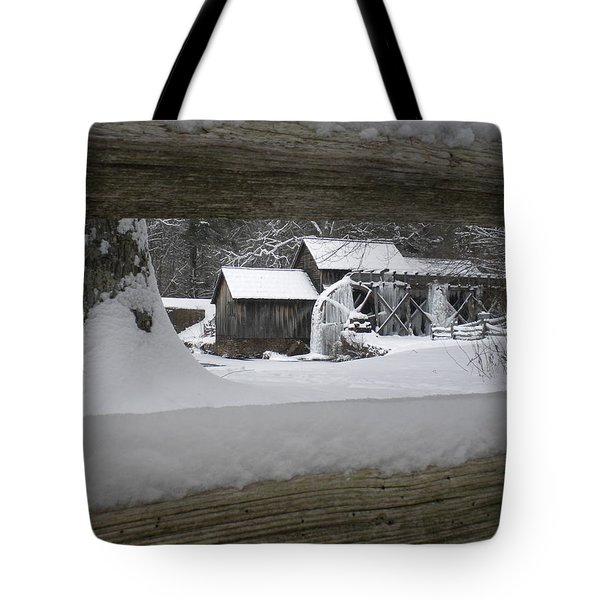 A Mabry Mill Winter Tote Bag