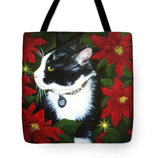 Tuxedo Cat Trouble  Tote Bag