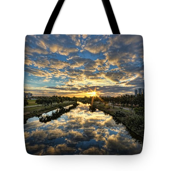 A Magical Marshmallow Sunrise  Tote Bag