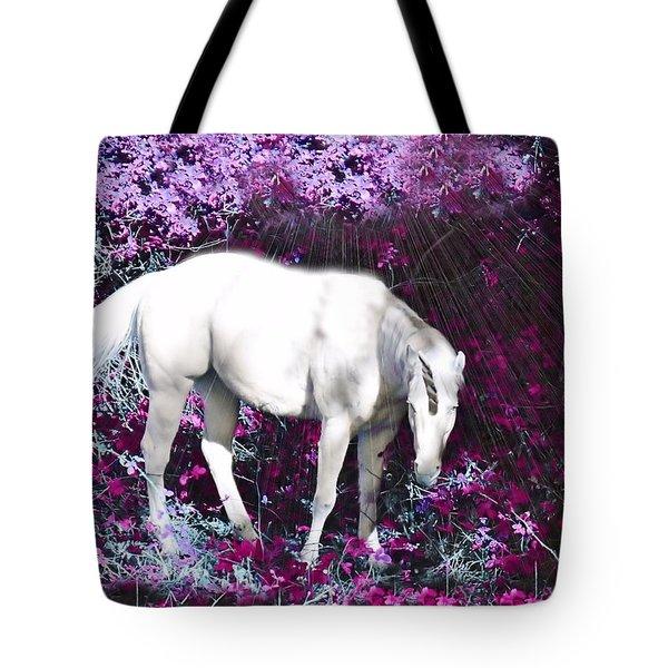 A Magical Unicorn In My Garden Tote Bag
