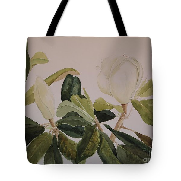 Tote Bag featuring the painting A Magnolia Duet by Nancy Kane Chapman
