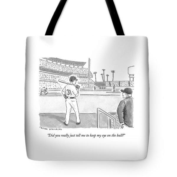 A Major League Baseball Player On Deck Tote Bag