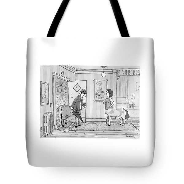 A Male Centaur Tote Bag