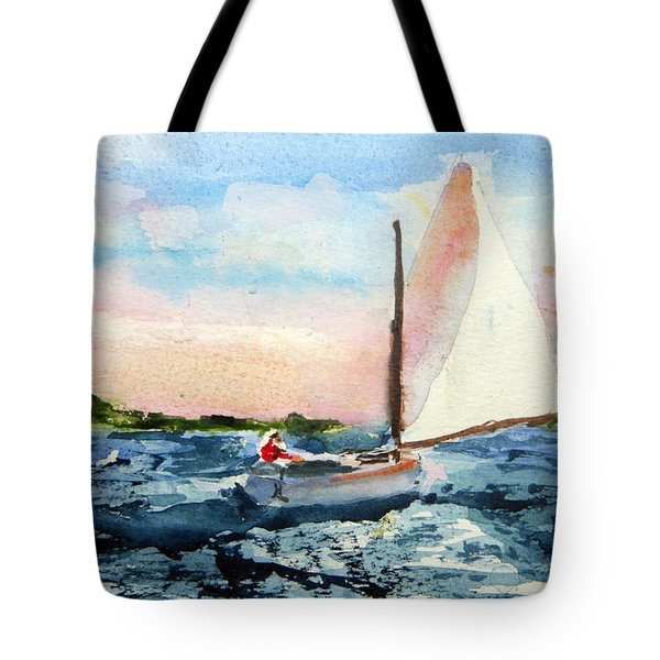 A Man And His Boat Tote Bag