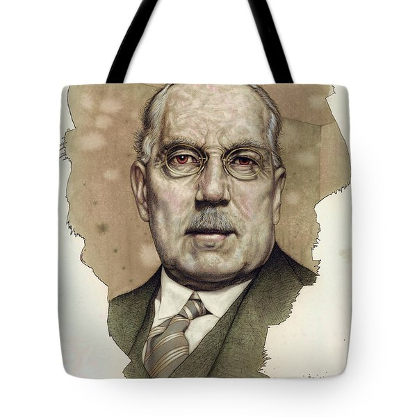 Tote Bag featuring the painting A Man Who Used To Be A Big Cheese by James W Johnson