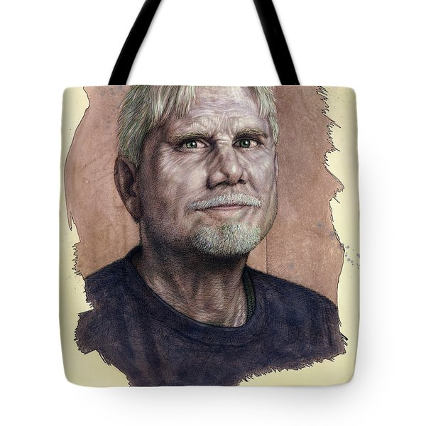 Tote Bag featuring the painting A Man Who Used To Be A Serious Artist by James W Johnson