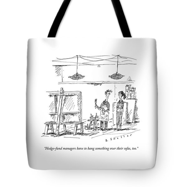 A Man With A Smock Tote Bag