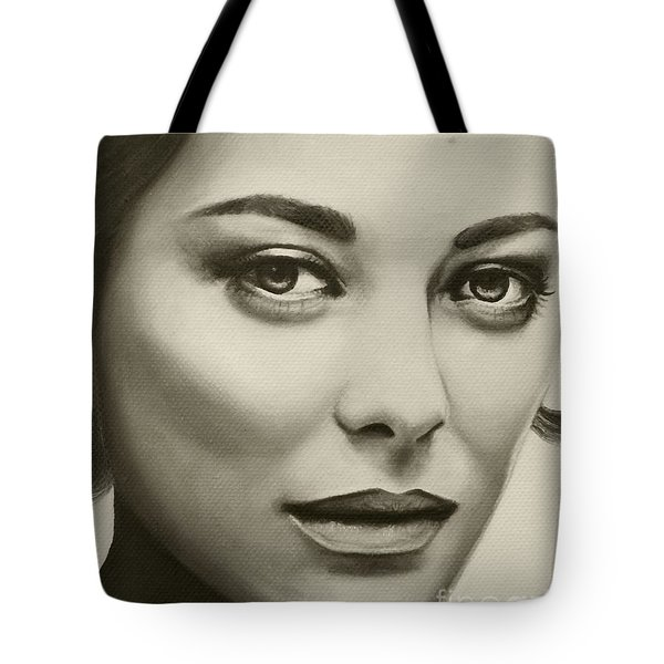 A Mark Of Beauty - Marion Cotillard Tote Bag by Malinda Prudhomme