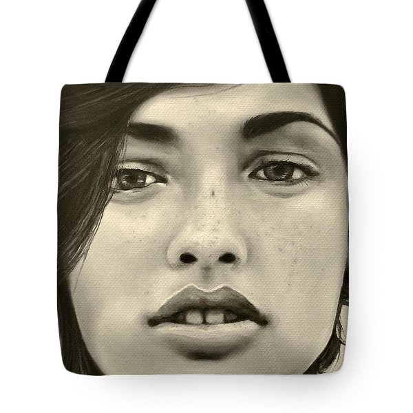 A Mark Of Beauty - Megan Ewing Tote Bag by Malinda  Prudhomme