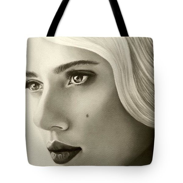 A Mark Of Beauty - Scarlett Johansson Tote Bag by Malinda Prudhomme