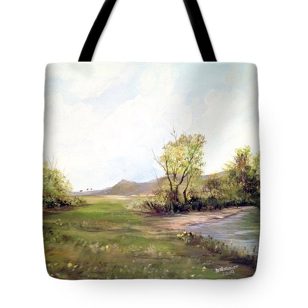 A Meadow Along The River Tote Bag