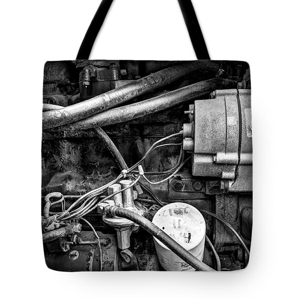 A Mechanic's View Tote Bag by Jeff Burton