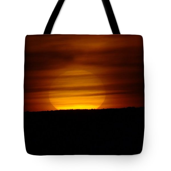 A Misted Sunset Tote Bag by Jeff Swan