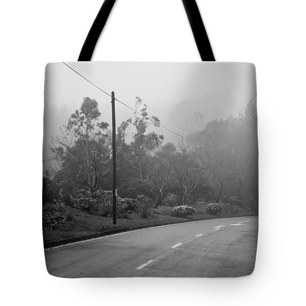 A Misty Country Road Tote Bag