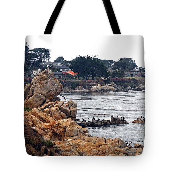 Tote Bag featuring the photograph A Misty Day At Pacific Grove by Susan Wiedmann
