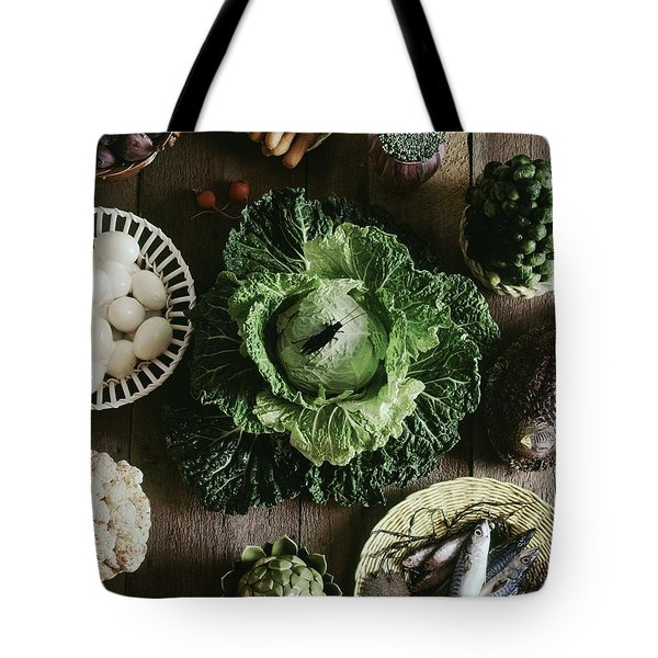 A Mixed Variety Of Food And Ceramic Imitations Tote Bag