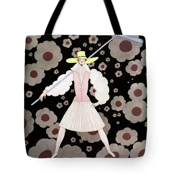A Model With A Rake Tote Bag