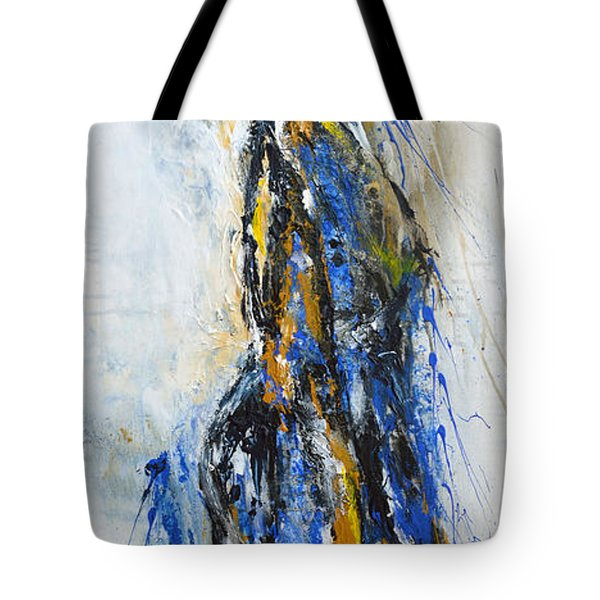 Tote Bag featuring the painting A Moment by Ismeta Gruenwald