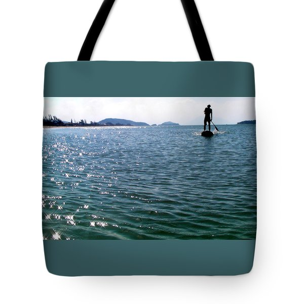 A Moment Of Enjoy Sup #1 Tote Bag by Chikako Hashimoto Lichnowsky