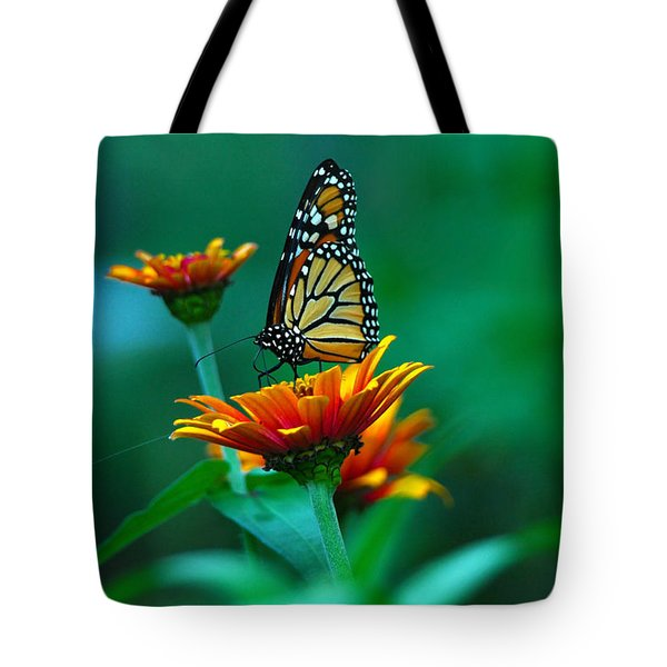 Tote Bag featuring the photograph A Monarch by Raymond Salani III