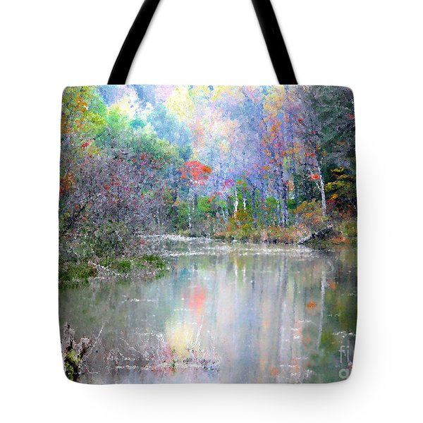 A Monet Autumn Tote Bag