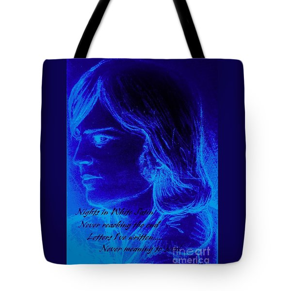 A Moody Blue Tote Bag