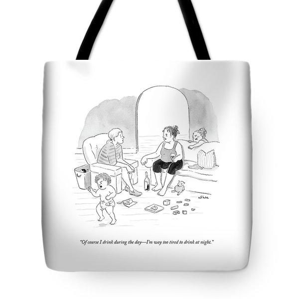 A Mother Of A Toddler Drinks Wine And Talks Tote Bag