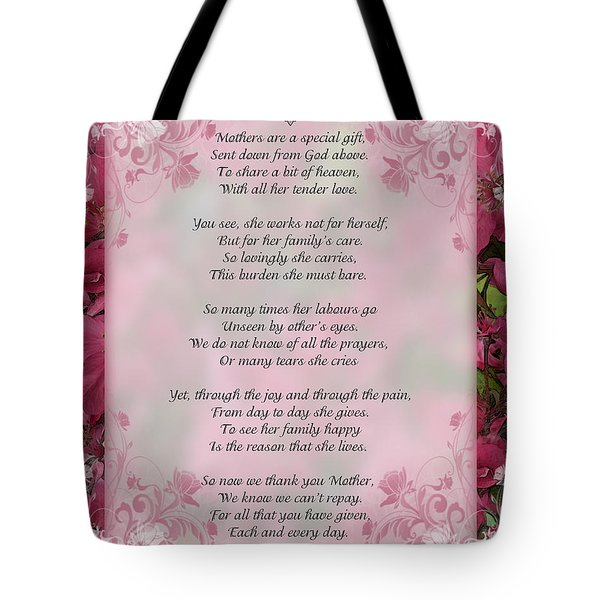 A Mother's Love  8x10 Format Tote Bag