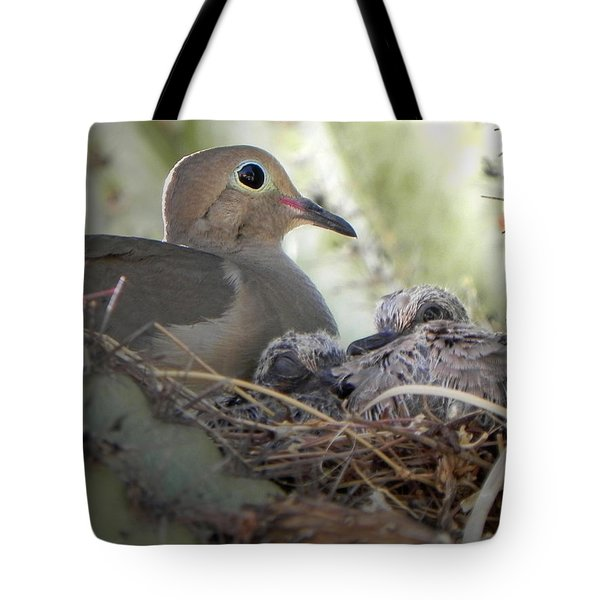 Tote Bag featuring the photograph A Mothers' Love by Deb Halloran