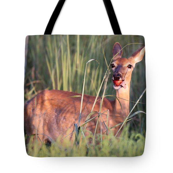 A Mouth Full Tote Bag by Elizabeth Winter