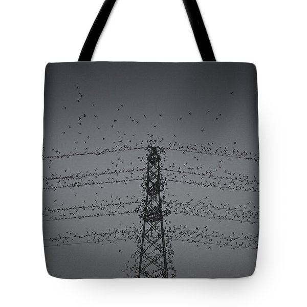 A Murmuration Of Starlings Tote Bag