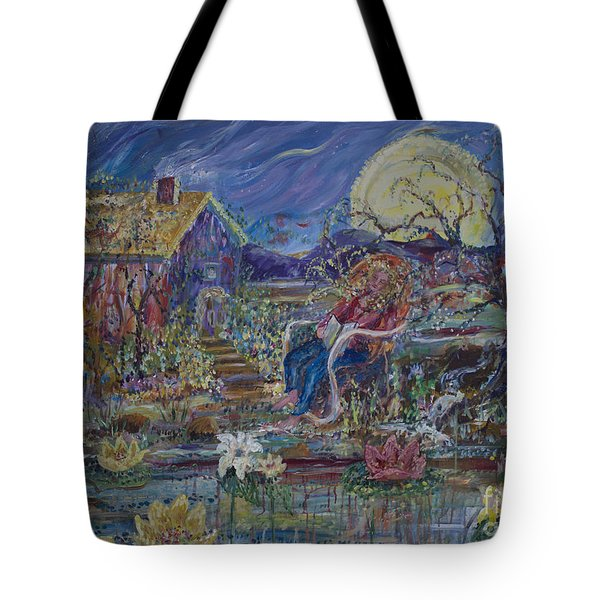 A Nap By The Lily Pond Tote Bag by Avonelle Kelsey