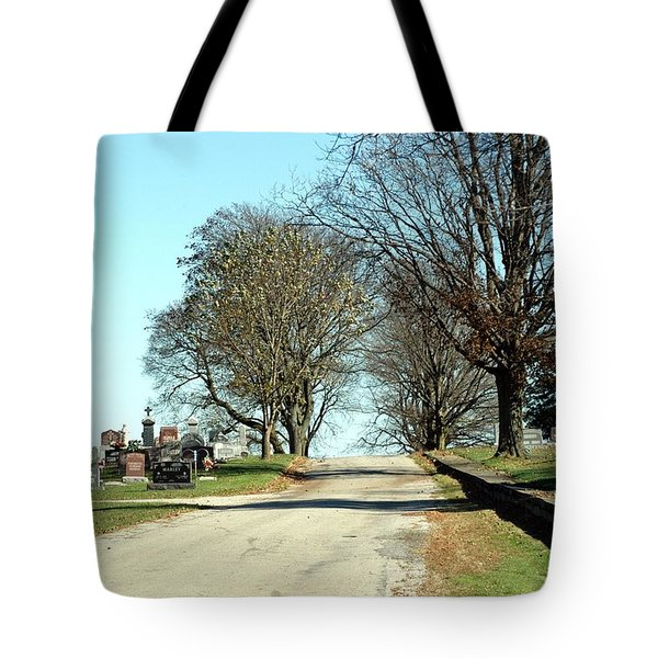 A Narrow Walk Tote Bag by Joseph Yarbrough