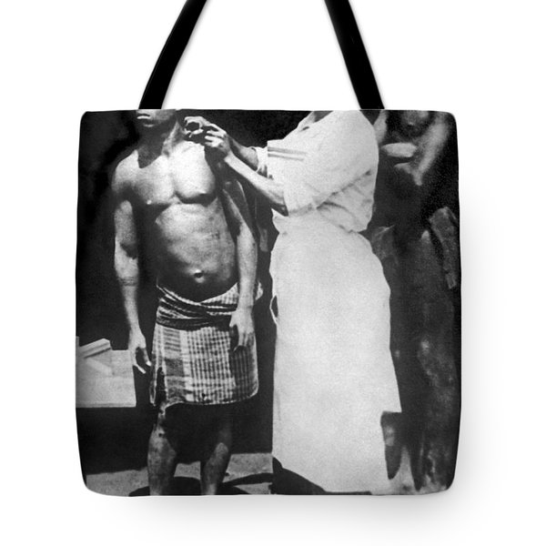 A Native Being Inoculated Tote Bag