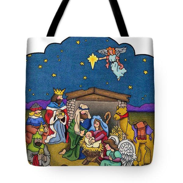 A Nativity Scene Tote Bag