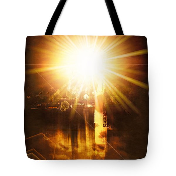 Tote Bag featuring the digital art A New Dawn  by Fine Art By Andrew David